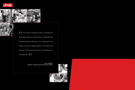 Sara Lee Foundation Bryan Award Folder (Inside)