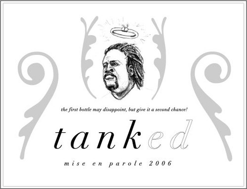 Tank Johnson Wine Label
